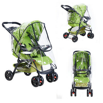 Buggy Rain Cover Zip Baby Pushchair Stroller Pram Universal Raincover Waterproof