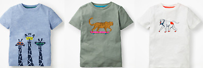 Mini Boden boys top tshirt animal graphic RRP $26 giraffes leopard baboon