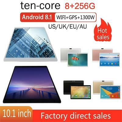 """10.1"""" Tablet PC 8G+256G Android8.1 Ten -Core Dual SIM &Camera Wifi Phone Phablet"""
