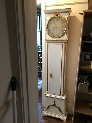 Antique Danish Bornholm Grandfather Clock 1830