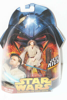 Hasbro Star Wars Revenge of the Sith Obi-Wan Kenobi Jedi Kick Action Figure 2005