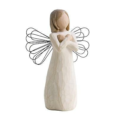NIB Willow Tree hand-painted sculpted angel, Sign for Love
