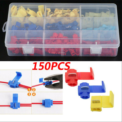 85pc Quick Splice Insulated Wire T-Tap Connectors Terminal 22-18 18-14 12-10 AWG