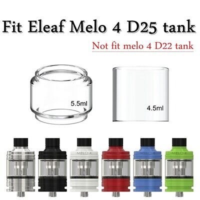 4/3PCS For Eleaf² Melo 4 D25 Tank Replacement Bubble Bulb Fatboy Glass Tube Tank