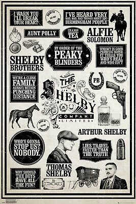 Peaky Blinders Infographic Shelby Maxi Poster Print 61x91.5cm | 24x36 inches