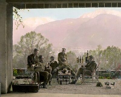 """EASY COMPANY 101st AIRBORNE at BERCHTESGARTEN WWII 8x10"""" HAND COLOR TINTED PHOTO"""