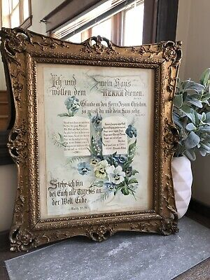 1800s Gold Gilt Gesso French Picture Frame Baroque Victorian European Wedding