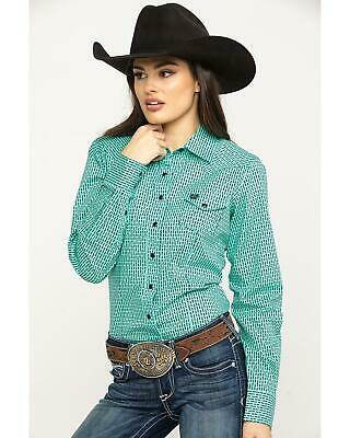 2a1c8998 Cinch Women's Turquoise Snap Long Sleeve Western Shirt - MSW9200034