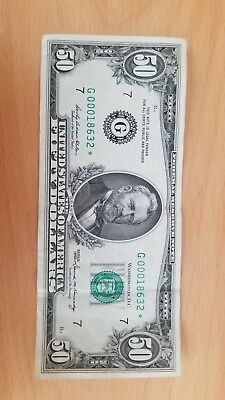 $50 Fifty Dollar 1969B2 Federal Reserve Note Chicago G00018632 (Great Condition)