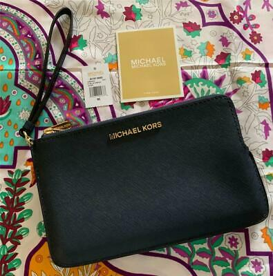 b252ba0da15f Authentic BNWT MICHAEL KORS Jet Set Travel Wristlet Purse Clutch Phone Bag
