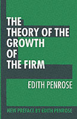 The Theory of the Growth of the Firm, Penrose, Edith, Used; Good Book