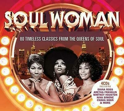 SOUL WOMAN 80 Timeless Classics From The Queens Of Soul NEW & SEALED 4CD SET