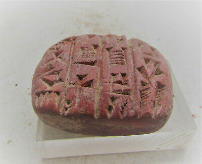 Rare Ancient Near Eastern Tablet With Early Form Of Writing 3000-2000Bc