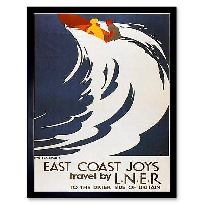 Southend On The Sea 1950 Essex UK LNER Railways Vintage Poster Print Travel Art