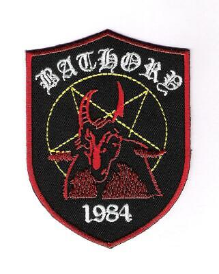patch embroidered / écusson thermocollant Bathory 1984