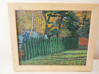 "Fine Framed Oil On Canvas Landscape ""lakeside Inn, Autumn 2003"""