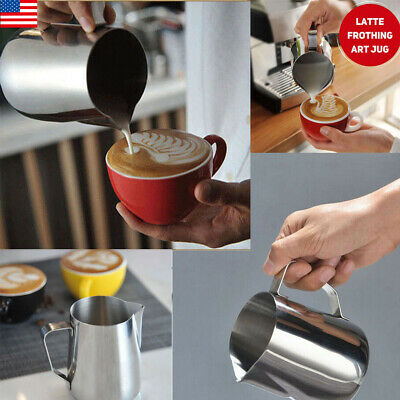 US 150/350/600ML Stainless Steel Camping Mug Coffee Tea Frothing Art Pitcher Cup