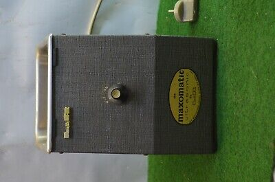 Ancien Appareil A Ultrason Maxomatic Ultrasonic Parr Ler  **