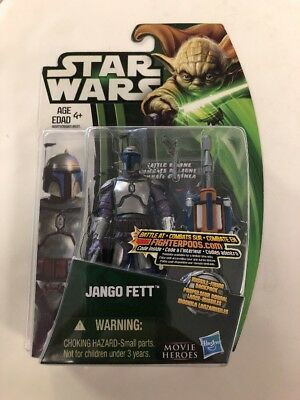 2012 Star Wars Jango Fett Movie Heroes Hasbro New Action Figure International