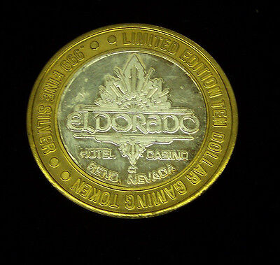 Eldorado Hotel and Casino, Reno, NEVADA   .999 SILVER Gaming Token
