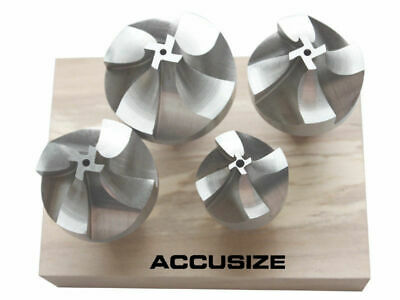 """HSS Corner Rounding End Mill Set 4 Pcs/Set Size from 1/2"""" to 3/4"""", #1011-0004"""