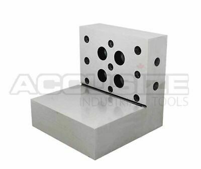 """4""""x3""""x3""""x1""""x0.0002"""" Precision Steel Angle Plate, HRC 58 to 62, #2200-0901"""
