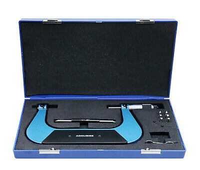 """5-6""""x0.001"""" Screw Thread Micrometer Include 3 Anvil in Fitted Case, #S916-C755"""