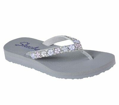 2c219e50a87b Women s Skechers Flip-Flops - Meditation-DAISY DELIGHT - Gray -  31559 -