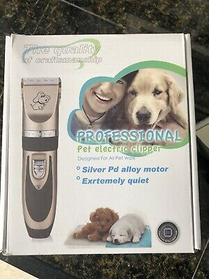 Electric Clippers Kit Maxshop Low Noise Rechargeable Cordless For Pet Dogs Cats