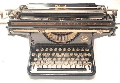 Antigua maquina de escribir IDEAL C carro largo ,circa 1925 rare TYPEWRITER