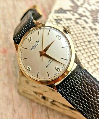 Vintage 9ct Gold ACCURIST 21 Jewel Hand Wind Cal. ETA 2390 Circa 1956 Mans Watch