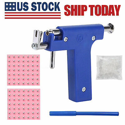 Pro Ear Piercing Gun with 98pcs Studs Kit Tool Set Ear Nose Navel Body Piercing