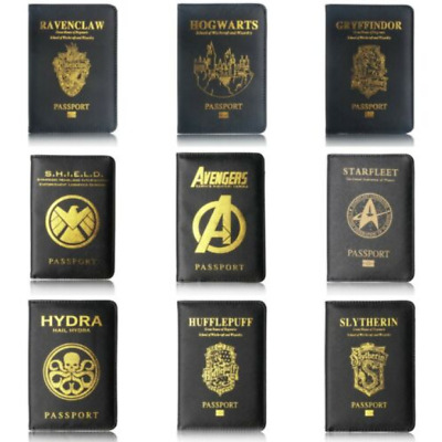 Passport Cover Marvel Wakanda Case Holder Panther Asgard Travel Card Black