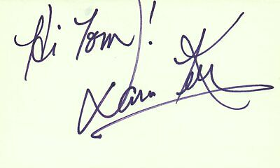 Martin Landau Actor 1980 Waldorf Tv Movie Autographed Signed Index Card Special Buy Movies Autographs-original
