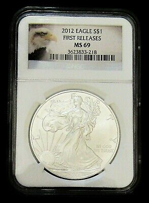 2012 Us American Silver Eagle First Release  Ngc  Ms69  #200180