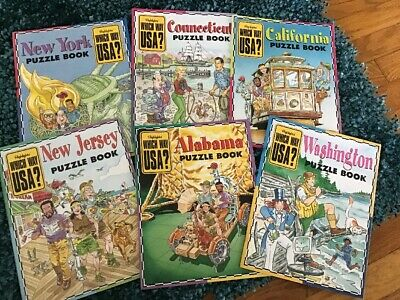 LOT OF 6, HIGHLIGHTS WHICH WAY USA? Geography Activity Books ...