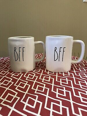 NEW Rae Dunn BFF Set Of 2 Coffee Mugs Best Friends Gift