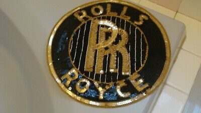 "Unique Vintage Hand Made ROLLS ROYCE Wall/Table Decoration 11"" in diameter"