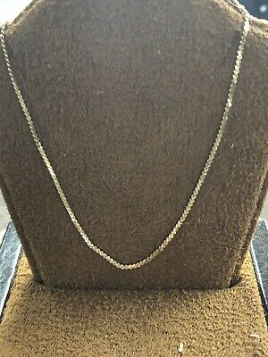 """Beautiful 14KT Yellow Gold 585 ITALY Swirl Style Chain Necklace 16"""" Long 1.25 MM"""
