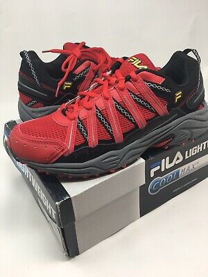 MEN'S FILA SHADOW SPRINTER COOL MAX RUNNING SHOES: red