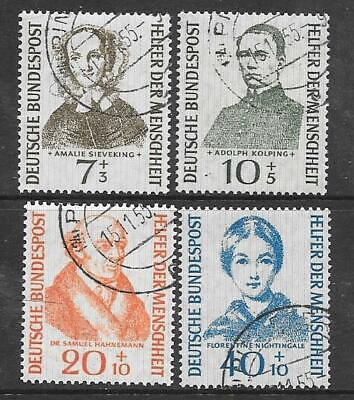 GERMANY (W) - 1955.  Humanoitarian Relief Funds - Set of 4, Used (CTO)