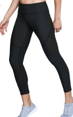 c3a191a78410e NWT NEW Under Armour Threadborne Microthread Black Crop Capri Leggings XS  XSmall