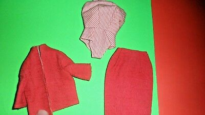 #981 BUSY GAL Vintage BARBIE 1960   doll clothes outfit dress suit set
