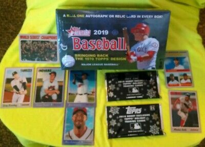 2019 Topps Heritage MLB 1 Hit&1Box Topper With 2 Holiday Packs From 2018 RC;Lowe