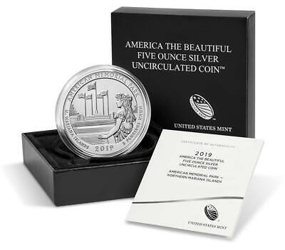 American Memorial Park 2019 Uncirculated Five Ounce Silver Coin -Pre-Sale -19Ak