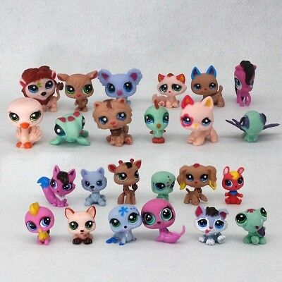 24set Littlest Pet Shop Lot Animals Hasbro LPS Figure Toy Dog Lion Cat Kids UK ♢