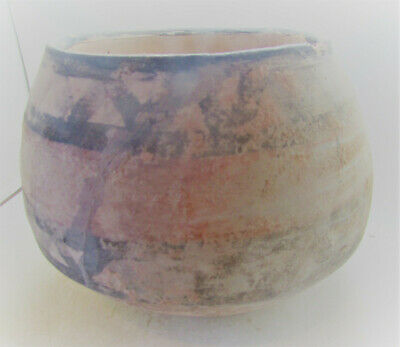 Lovely Ancient Indus Valley Balochistan Terracotta Decorated Vessel, Large.