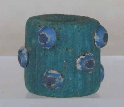 Ancient Glass Bead. Rare drawn Bead with Eyes.