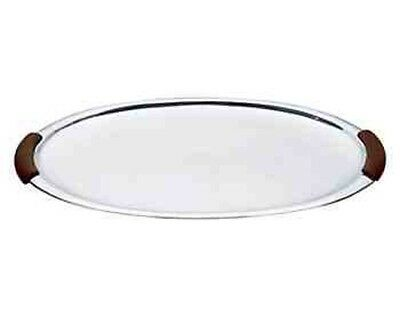 LENOX Urban Accents Aluminum/Wood Large Oval Serving Tray 19.5 in. NEW Boxed