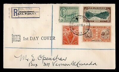 Dr Who 1946 New Zealand Registered Fdc C91380